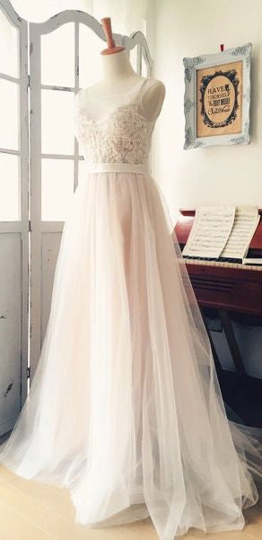 Appliqued A-line Wedding Dress ,Popular Beach Wedding Dresses, Fashion Bridal Dress BDS0024