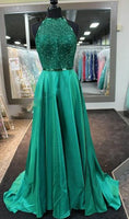 A-line Long Prom Dress With Beading Wedding Party Dress Formal Dress PDS0472
