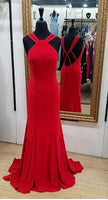 Simple Red Long Prom Dress, Wedding Party Dress ,Formal Dress PDS0512