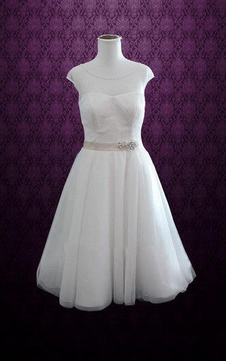 Popular Short Wedding Dress, Short Wedding Reception Bridal Dress BDS0084