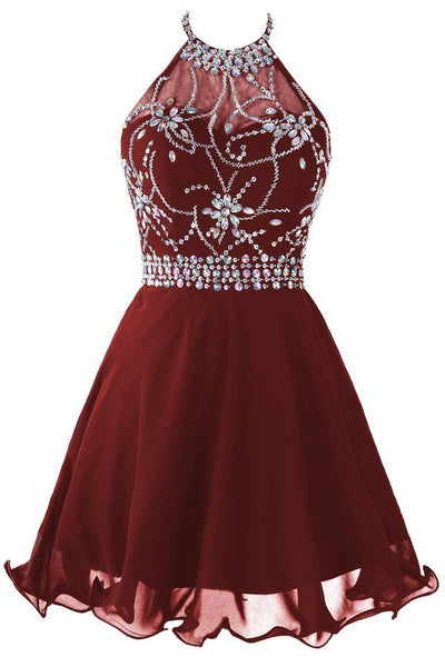 Fashion Short Beaded Prom Dress Sweet 16 Dance Dress PDS0486