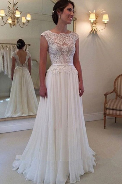 Popular A-line Beach Wedding Dresses, Fashion Bridal Dress BDS0032