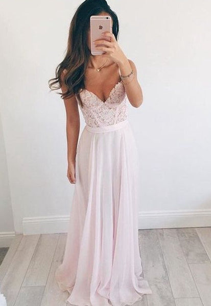 Chiffon A-line Long Prom Dress With Applique,Popular Wedding Party Dress,Cocktail Dress, PDS0330