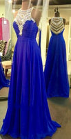 A-line Beaded Long Prom Dress ,Wedding Party Dress,Popular Cocktail Dress,Fashion Evening Dress  PDS0177