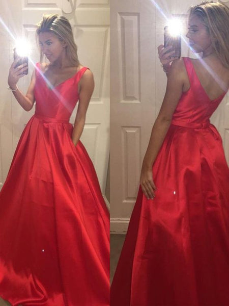 Fashion V-neck Long Prom Dress Wedding Party Dress Formal Dress PDS0577