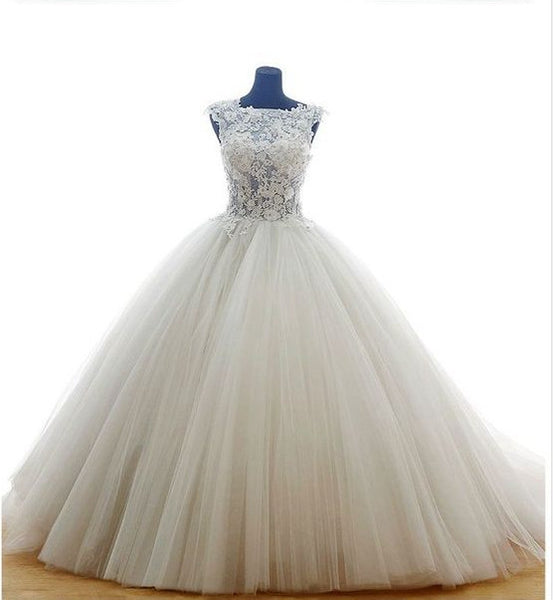 Fashion Real Photo Ball Gown Wedding Dress,Popular Bridal Dress With Applique BDS0136