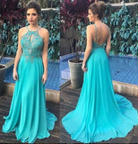 Backless Beaded Long Prom Dress Wedding Party Dress Formal Dress PDS0659
