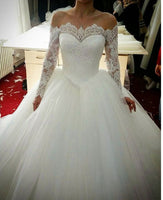 Off the Shoulder Ball Gown Wedding Dress ,Popular Bridal Dress  BDS0207