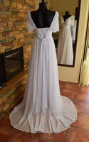 Popular Backless A-line Beach Wedding Dresses, Fashion Chiffon Bridal Dress BDS0039
