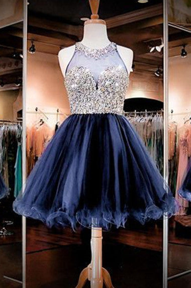 Short Beaded Homecoming Dress ,Short Wedding Dress, Prom Dresses Cocktail Dresses Graduation Dresses PDS0315