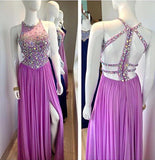 A-line Beaded Long Prom Dress ,Wedding Party Dress,Popular Cocktail Dress,Fashion Evening Dress  PDS0178