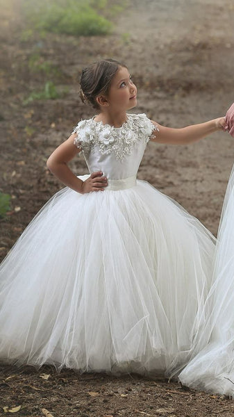 Ball Gown Flower Girl Dress,Vestido da menina flor SF022