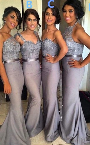 Mermaid Long Bridesmaid Dress,Popular Wedding Party Dress PDS0683