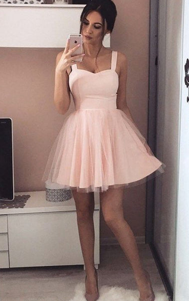 2018 New Style Simple Homecoming Dress, Short Prom Dress, Back To School Dress Party Dress PDS0739