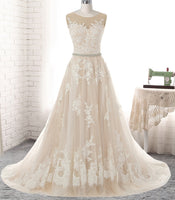 A-line Wedding Dress with Applique Bridal Dresses BDS0320