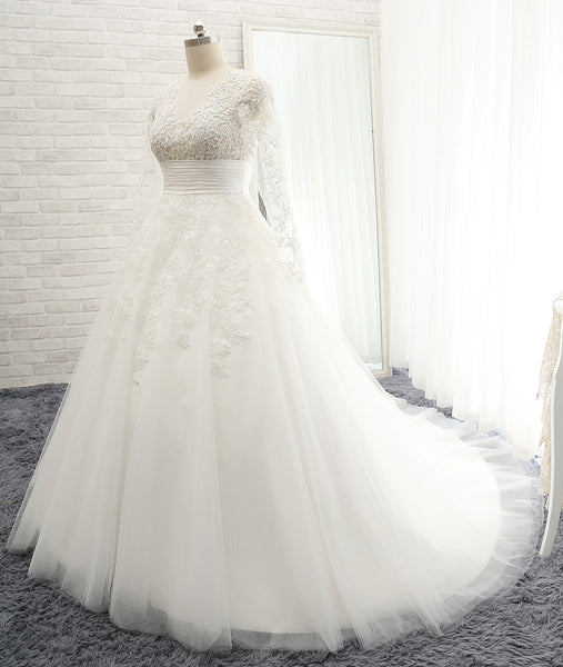 Ball Gown Wedding Dress with Applique Bridal Dresses BDS0319