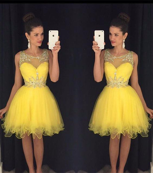 A-line Short Beading Homecoming Dress , Short Prom Dress, PDS0051
