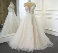 Beaded Ball Gown Wedding Dress , Fashion Bridal Dress BDS0258