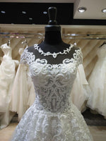 Fashion Ball Gown Real Photo Wedding Dress,Popular Bridal Dress With Appliques and Beading  BDS0133