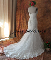 Sweetheart Mermaid Real Photo Wedding Dress ,Popular Bridal Dress With Applique And Beading BDS0097