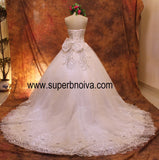 Fashion Real Photo Wedding Dress Ball Gown With Applique And Beading,Bridal Dresses Ball Gown Wedding Dress BDS0101