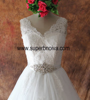 Appliqued Real Photo  Ball Gown Wedding Dress ,Popular Bridal Dress With Beading BDS0104