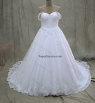 Plus Size Real Photo Ball Gown Wedding Dress With Applique and Beading Fashion Bridal Dresses Vestidos de Novia BDS0552