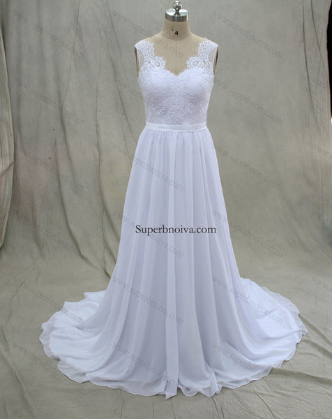 Charming A-Line Real Photo Wedding Dresses,Long Appliques Wedding Dresses,Beach Wedding Dresses BDS0553