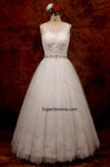 A-line Lace/Tulle Wedding Dress Without Train Real Photo Bridal Dresses Vestidos de Novia BDS0569