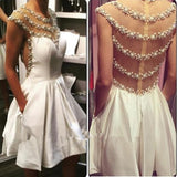 Short Beaded Homecoming Dress,Short Prom Dresses Cocktail Dresses Graduation Dresses PDS0304
