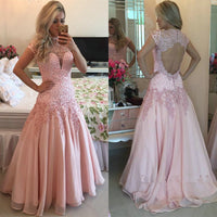 Open Back Appliqued Long Prom Dress,Beading Wedding Party Dress,Popular Cocktail Dress,Fashion Evening Dress PDS0205