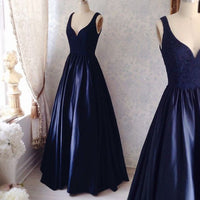 A-line Satin Long Prom Dress,Fashion Wedding Party Dress,Popular Cocktail Dress,Fashion Evening Dress PDS0209