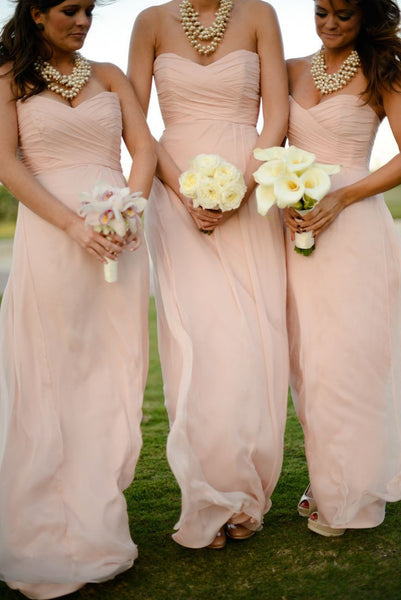 Sweetheart A-line Bridesmaid Dress,Popular Wedding Party Dress,Long Prom Dress  PDS0257