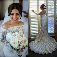 Fashion Mermaid Wedding Dress,Popular Bridal Dress With Appliques and Beadings BDS0174