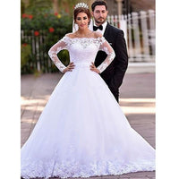 Popular Ball Gown Wedding Dress ,Popular Bridal Dress With Applique  BDS0173