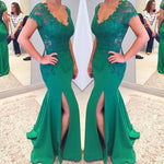Mermiad Long Prom Dress With Applique ,Popular Wedding Party Dress,Cocktail Dress,Fashion Mother of The Bride Dress PDS0321