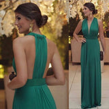 Deep V-neck Long Prom Dress ,Popular Wedding Party Dress,Cocktail Dress,Fashion Mother of The Bride Dress PDS0323