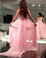 A-line Chiffon Long Prom Dress  ,Popular Wedding Party Dress,Fashion Evening Dresses PDS0246
