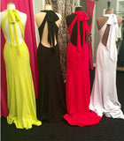 Open Back Simple Long Prom Dress  ,Popular Wedding Party Dress,Fashion Evening Dresses PDS0242