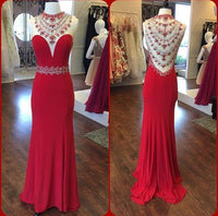 Beaded Long Prom Dress  ,Popular Wedding Party Dress,Fashion Evening Dresses PDS0241