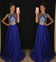 Chiffon Beaded Long Prom Dress  ,Popular Wedding Party Dress,Fashion Evening Dresses PDS0240