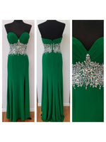 Sweetheart Beaded Chiffon Long Prom Dress ,Popular Wedding Party Dress,Fashion Evening Dresses PDS0235