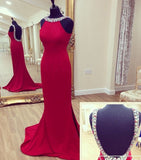 Backless Beaded Long Prom Dress ,Popular Wedding Party Dress,Fashion Evening Dresses PDS0232