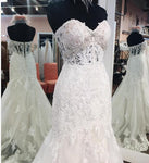 Sweetheart Mermaid Real Photo Wedding Dress ,Popular Bridal Dress With Applique and Beadings BDS0011