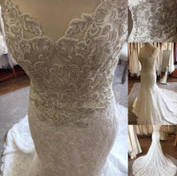 Popular Mermaid Wedding Dress With Beading , Fashion Bridal Dress BDS0287