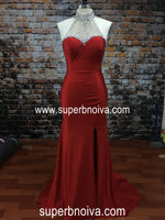 Real Photo Long Prom Dress,Beading Wedding Party Dress,Halter Neck Cocktail Dress,Fashion Evening Dresses PDS0002