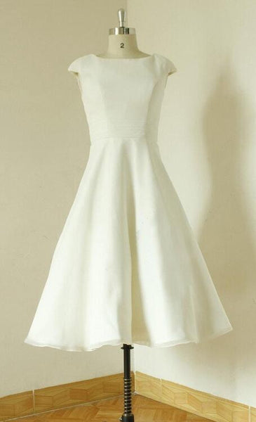 Popular Short Wedding Dress, Short Wedding Reception Bridal Dress BDS0054