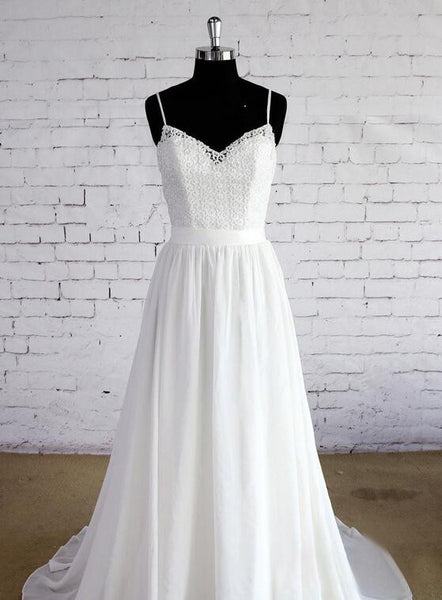 A-line Beach Wedding Dresses, Fashion Bridal Dress BDS0051
