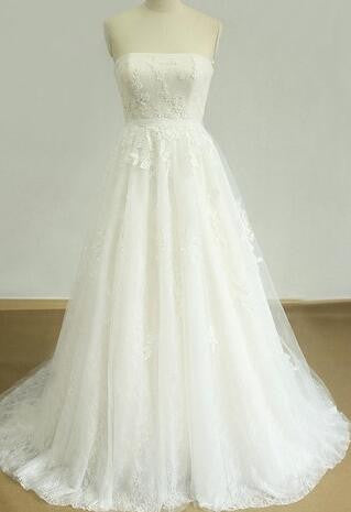 A-line  Ball Gown Wedding Dress ,Popular Lace Bridal Dress  BDS0048