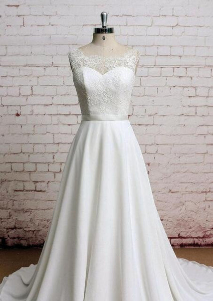 Popular A-line Beach Wedding Dresses, Fashion Chiffon Bridal Dress BDS0043
